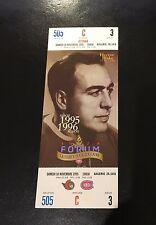 HECTOR TOE BLAKE MONTREAL CANADIANS 1 (ONE) UNUSED TICKET 1995 MONTREAL FORUM