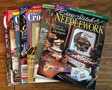 Cross Stitch Magazines Lot of 8 Different Titles Many Charts Patterns In Each