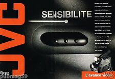 Publicité Advertising 1992 (2 pages) Camera Camescope JVC Video