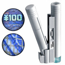 100X Zoom Microscope Pocket LED Light Jewelry Magnifier Lens Loupe Handheld Hot