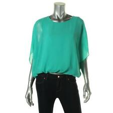 Vince Camuto 6062 Womens Oasis Green Chiffon Batwing Sleeves Blouse Top M BHFO
