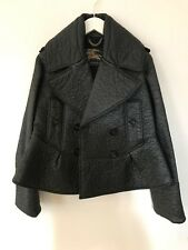 Burberry Prorsum black A-line lightweight jacket low-shine finish UK size8 EU 34