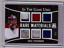 JOSE THEODORE /15 Leaf ITG In The Game Used RARE MATERIALS Tag Patch Glove #1/3