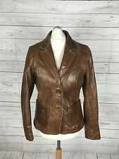 Women's Ben Sherman Leather Jacket - UK10 - Brown - Great Condition