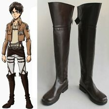 Shingeki no Kyojin Attack on Titan Eren Mikasa Cosplay Costume Shoes Boots