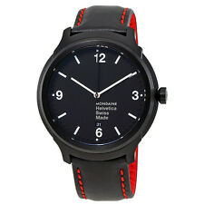 Mondaine Helvetica No1 New York Black Dial Mens Watch MH1.B1221.LB