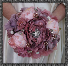 Brooch Bouquet Bridal Wedding Bouquet Shabby Chic Vintage Dusky Pink
