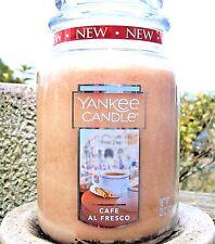 """Yankee Candle """"CAFE AL FRESCO"""" Large 22 oz.~WHITE LABEL~NEW"""