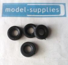 Dinky 102 Joe's Car reproduction 17mm O/D black treaded tyres (set of 4)