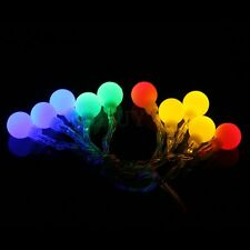 Battery Operated Ball 10 LED String Fairy Light Multicolor Party Xmas