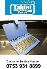 Blue USB Keyboard Carry Case/Stand for Scroll Essential II 2 Android Tablet PC