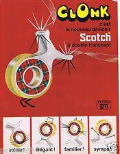 Publicité Advertising 096 1967 Scotch le nouveau dévidoir Clonk