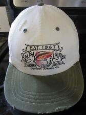 Vintage Ralph Lauren POLO Fly Fishing Sport Cap DISTRESSED Tackle leather strap