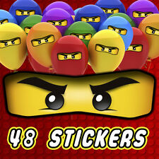 48 x Lego Ninjago Eyes Stickers for Balloons, Bags, Plates, Party Decorations