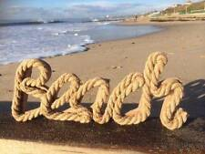 Rope Beach Sign seaside Nautical Home Decor Gift Fathers Day Birthday