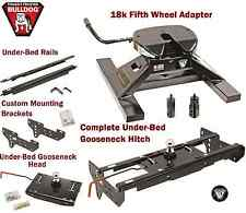 BULLDOG UNDERBED GOOSENECK TRAILER HITCH & 18K 5TH WHEEL ADAPTER 99-16 F250 F350