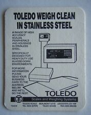TOLEDO SCALES AND WEIGHING SYSTEMS WEIGH CLEAN IN STAINLESS STEEL COASTER