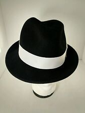 "BAILEY OF HOLLYWOOD ""TINO"" Litefelt Black Wool Hat Fedora Men's Medium Packable"
