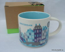 "Starbucks City Mug, AMSTERDAM, ""You Are Here"" Collection SKU Code 14oz. NWT"
