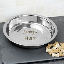 Personalised Engraved Metal Pet Dog Food/Water Bowl - Any Name - Free Delivery