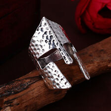 Jewelry Men's Knight mask stainless steel Fashion Punk design ring US size10 T13
