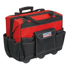 Sealey Heavy-Duty Tool Storage/Storing/Pocketed Bag On Wheels - 450mm - AP512