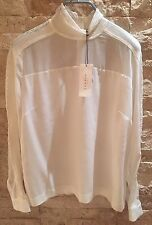 Sandro White Turtleneck Blouse. Size 1. New With Tags.
