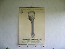408KF1 Plakat UNTERFLURHYDRANT Vereinigte Armaturen-Gesellschaft mbH Mannheim