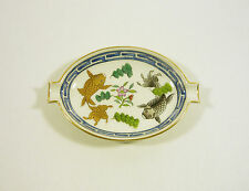 """HEREND, CHINESE FISH POISSONS (PO) ASHTRAY 4.4"""", HANDPAINTED PORCELAIN !"""