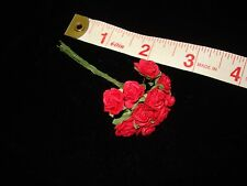 "*10 Red Roses*  3/8 "" across  Miniature Flowers - Barbie - Dollhouse"