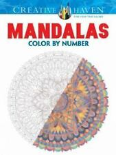 Adult Coloring: Creative Haven Mandalas Color by Number Coloring Book by...