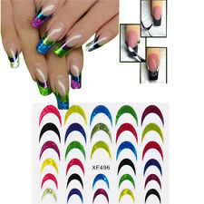 3D NAGELSTICKER French Design Nail Art Tattoo DIY watertransfer