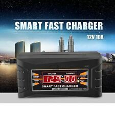 LCD Smart Car Motorcycle Battery Charger 12V 10A 20~150ah Charging EU Charger