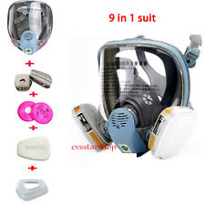 9 in1 Suit Painting Spraying For 3M 6800 Full Face Facepiece Respirator Gas Mask