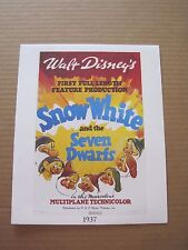 Walt Disney's Snow White and the Seven Dwarfs Set of 9 Lithographs 1937-1993