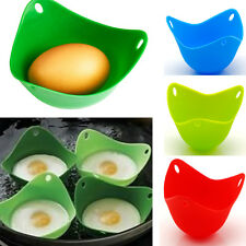4x Silicone Egg Poacher Poaching Pods Pan Poached Cup Mould Kitchen Tool