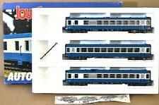 JOUEF 8621 SNCF BLUE WHITE DMU AUTORAIL 3 CAR SET MINT BOXED my