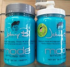 Johnny B Mode Styling Hair Gel 2 x 32oz FREE PUMP INCLUDED #bestprice