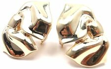 RARE! Authentic Tiffany & Co 14k Yellow Gold Vintage Bow Earrings