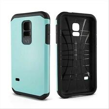 Blue Hybrid Impact Hard PC Box Case Cover+Stylus for Samsung Galaxy S5 Mini G800