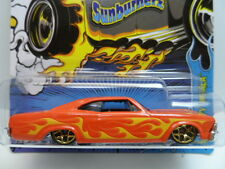 HOT WHEELS 2012 1:64 Sunburnerz 1965 CHEVY IMPALA #3 Orange Diecast Car