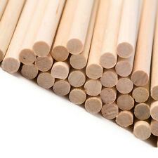 "100 round wooden lolly lollipop sticks food craft use 89mm x 4mm 3.5"" inch"