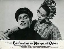VINCENT PRICE LINDA HO CONFESSIONS D'UN MANGEUR D'OPIUM 1963 VINTAGE LOBBY CARD