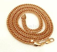 Mens Vintage New Heavy Long Snake Chain 18K Yellow Gold Plated 62cm 24.5 inches