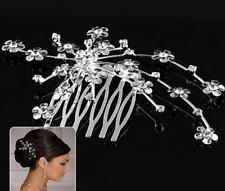 Elegant Wedding Hair Comb Crystal Rhinestone Bridal Hairpin Jewelry Decor Hot