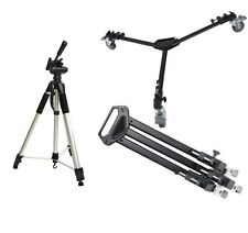 "Professional Tripod Dolly + 72"" Tripod Combo for Canon XF100 Camcorders"