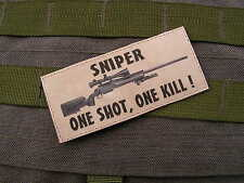 Patch Velcro - SNIPER one shot one kill M24 - SABLE - FANTAISIE tir GHILLIE US