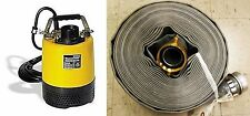 """Wacker PS2 500 50mm/2 inch Submersible Pump 110V/60Hz with 2""""x50"""" Discharge Hose"""