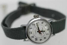 Vintage Timex Water Resistant Hand Wind Women's Wrist Watch One Piece Army Strap