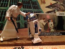 Princess Leia Organa & R2D2 DROID Star Wars COMPLETE NM Figures ANH w File Cards